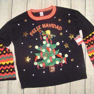 Feliz Navidad Merry Christmas Ugly Sweater S